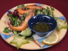 Gemischter Salat mit Scampi - Rezept