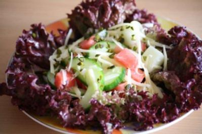 Käse-Melonen-Salat - Rezept