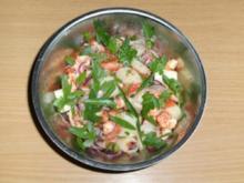 Salat: Spargelsalat mit Louisiana Flußkrebsen. - Rezept