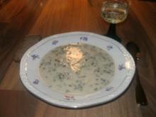 cremige Spargelsuppe mit Speck - Rezept