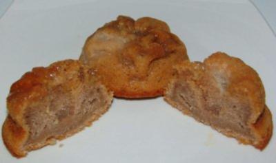 Schoko-Birne -Toffee  Muffin - Rezept