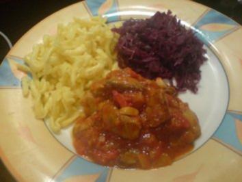 Paprika-Pilz-Gulasch - Rezept