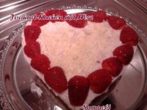 Jogurt-Kuchen mit Herz - Rezept