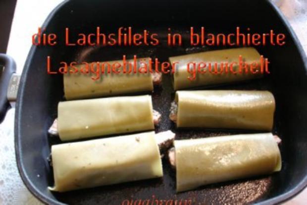 Kräuterlachs im Lasagneblatt - Rezept - Bild Nr. 3