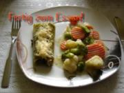 Kräuterlachs im Lasagneblatt - Rezept