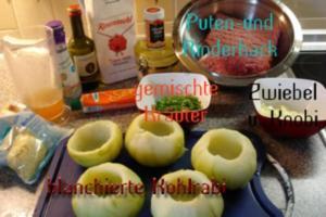 Gefüllte Kohlrabi - Rezept