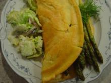 Omelette mit grünem Spargel und Lauchzwiebeln - Rezept