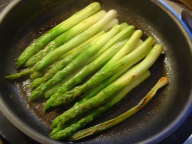 Omelette mit grünem Spargel und Lauchzwiebeln - Rezept - Bild Nr. 3