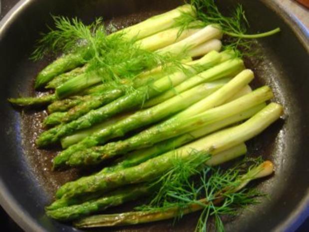 Omelette mit grünem Spargel und Lauchzwiebeln - Rezept - Bild Nr. 5