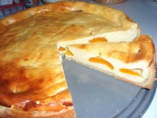Kuchen: Käsekuchen mit Aprikosen - Rezept