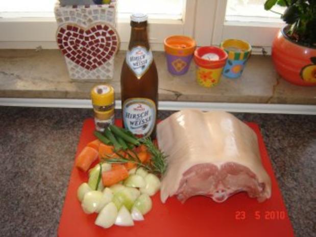 Fleisch : Knuspriger Spanferkelrücken - Rezept - Bild Nr. 3