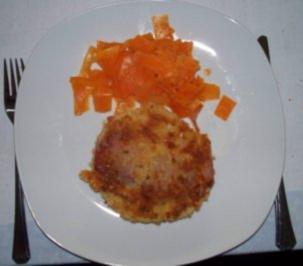 Sellerieschnitzel mit Möhrentagliatelle - Rezept