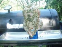 Bierdosen - Hähnchen mit Knoblauch und Oregano, dazu Folienkartoffeln und Salat - Rezept