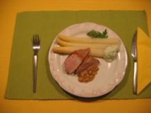 Spargel mit Schweinefilet - Rezept