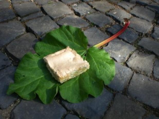 Rhabarber-Baiser-Kuchen - Rezept
