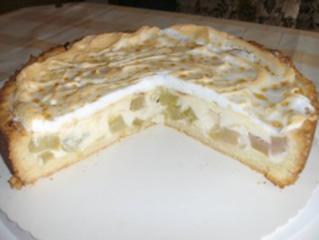 Rhabarberkuchen mit quark oder pudding