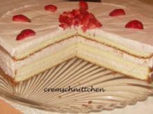 Erdbeer - Sahne - Torte - Rezept