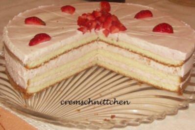 Erdbeer Sahne Torte Rezept Mit Bild Kochbar De