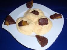 Mango-Quark-Halbgefrorenes mit Schoko-Orangenstücke - Rezept