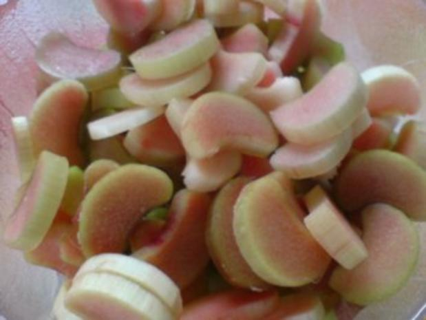 Apfel-Rhabarber-Kompott mit Vanillepudding - Rezept - Bild Nr. 5