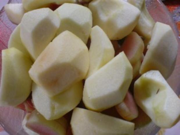 Apfel-Rhabarber-Kompott mit Vanillepudding - Rezept - Bild Nr. 6