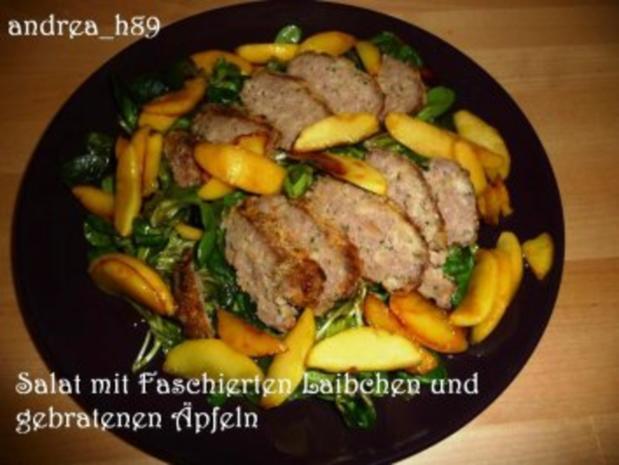 Vogerlsalat mit Faschiertem und Äpfeln - Rezept