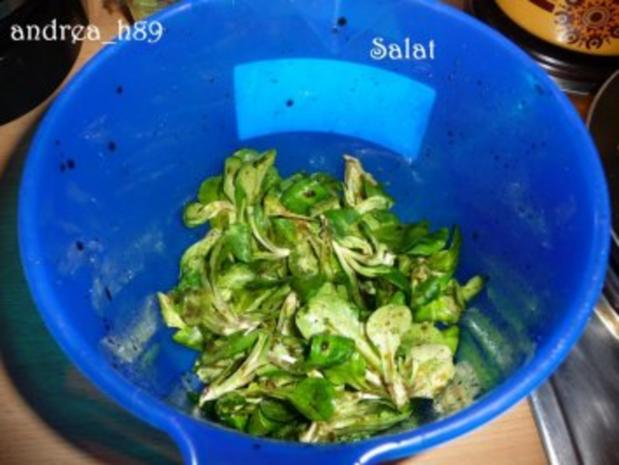Vogerlsalat mit Faschiertem und Äpfeln - Rezept - Bild Nr. 2