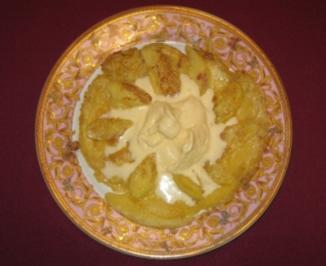 Apfelpfannkuchen mit Apfeleis - Rezept