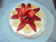 Mini Erdbeer-Bananen Torte - Rezept