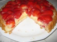 Erdbeeren treffen Pudding - Rezept