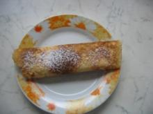 Pfannkuchen mit Erdbeersahne - Rezept