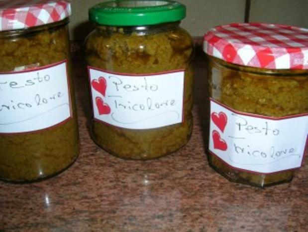 Pesto Tricolore - sehr lecker zu Nudelgerichten - Rezept - Bild Nr. 2