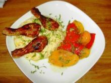 Hähnchensticks mit Polenta und Marinierter Paprika - Rezept