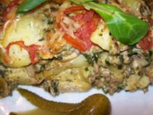 Aus dem Backofen - Hackfleisch-Kartoffel-Auflauf - Rezept