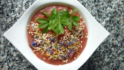 Vanilliges Rhabarber-Erdbeer-Kompott mit Schuss - Rezept