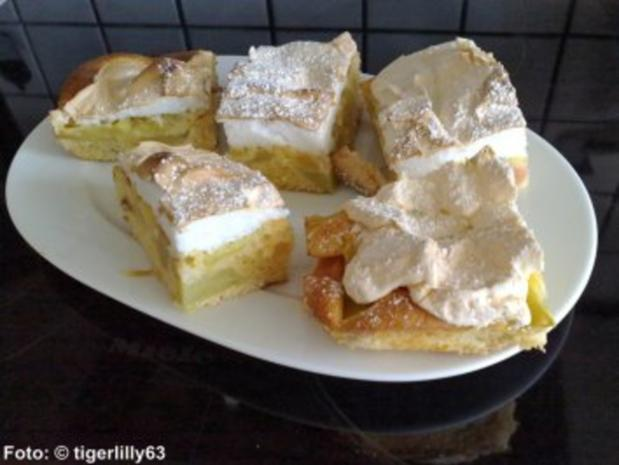 Rhabarberkuchen mit Baiserhaube - Rezept - Bild Nr. 3
