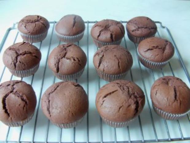 Cremegefüllte Schoko-Muffins - Rezept - Bild Nr. 4