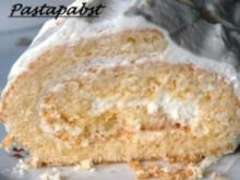 Zitronenquark-Biskuitrolle - Rezept