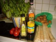 Tomaten-Basilikum-Vinaigrette zu Spargel - Rezept
