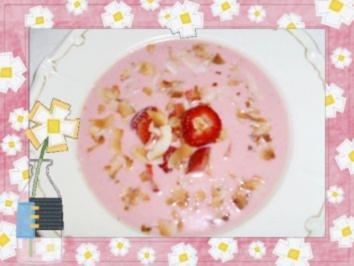 Erdbeer-Kokos-Süppchen - Rezept