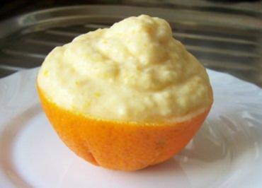 Dessert: Orangen-Sahne-Eis - Rezept