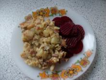 Bratkartoffeln mit Ei und Rote Bete - Rezept