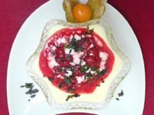 Vanille-Sektcreme mit heißer Himbeersoße - Rezept - Bild Nr. 9
