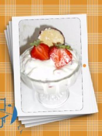 Schokokuss-Dessert mit Erdbeeren - Rezept