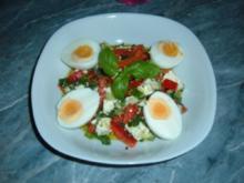 Salate  : Frühlingszwiebel-Paprika - Rezept