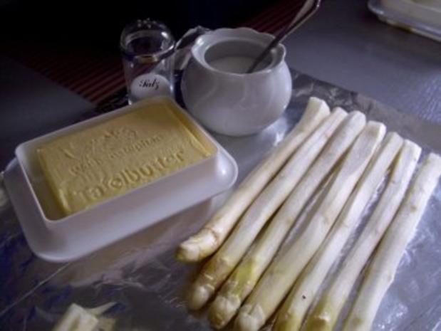 Spargel in Alufolie im Ofen gegart - Rezept - Bild Nr. 2