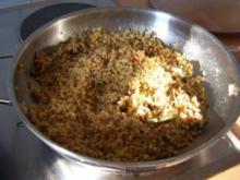 Beilage: Bulgur mit Gemüse und Curry - Rezept