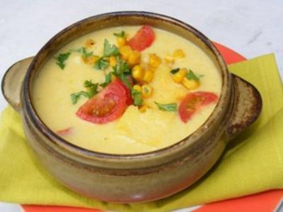 Maiscreme-Suppe mit Polenta - Rezept