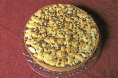 Beschwipster Erdbeer - Rhabarber - Kuchen - Rezept