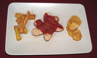 Currywurst mit Pommes a la Corinna - Rezept